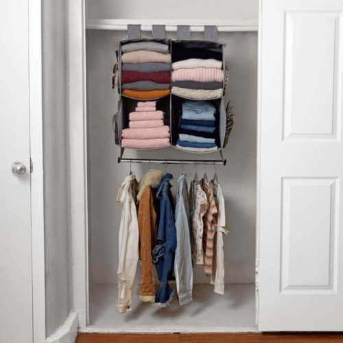 College dorm room storage - Closet organizing solution from Dormify with closet rod and hanging storage