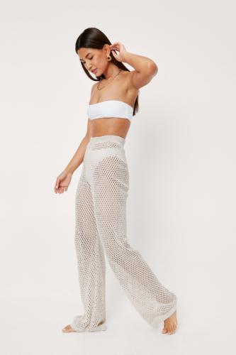 Nasty Gal Crochet Wide Leg Pants