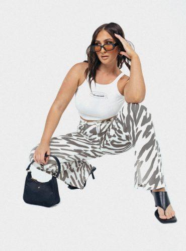Zebra Print Jeans