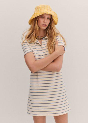 Towel Texture Striped Dress