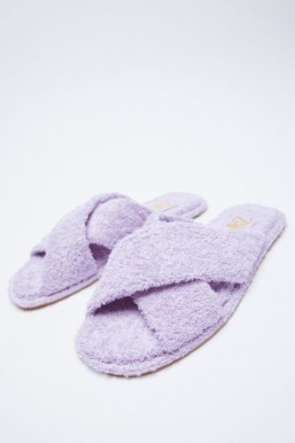 Zara Terry Cloth Flat Sandals
