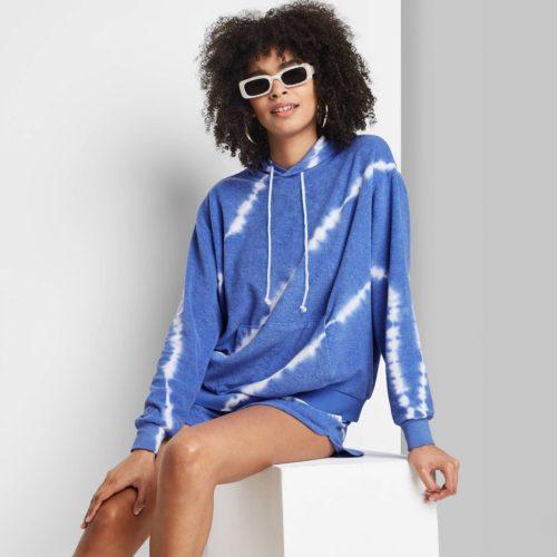 French Terry Tie Dye Hooded Sweatshirt