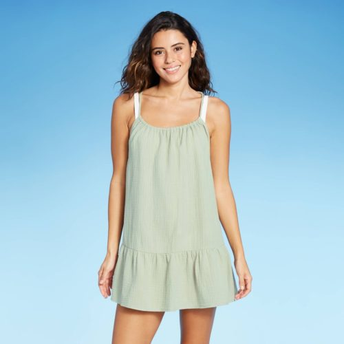Flounce Mini Cover Up Dress