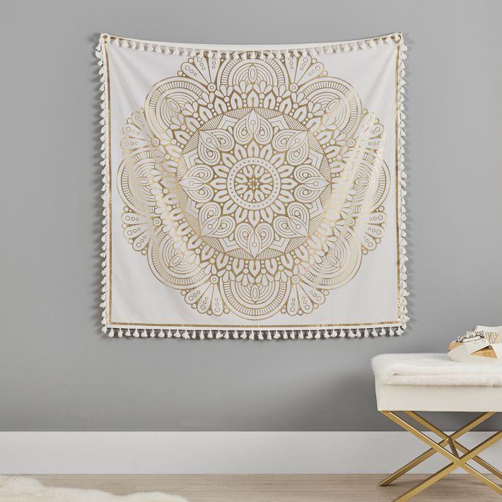 Tassel mandala tapestry from PBdorm