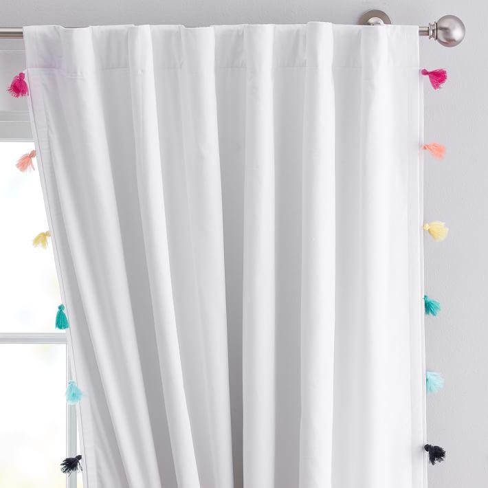 Tassel rainbow blackout curtains from PBdorm