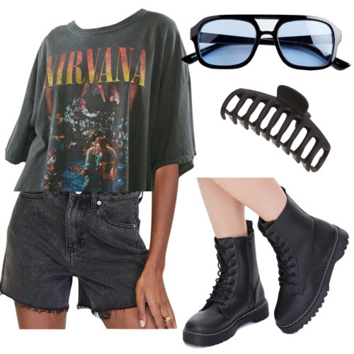 Rocker Jean Shorts Outfit