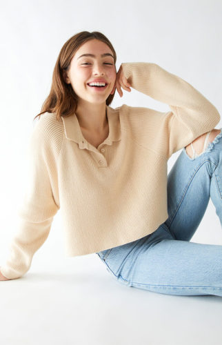 Pullover Polo Sweater