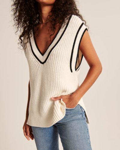 Oversized Sweater Vest