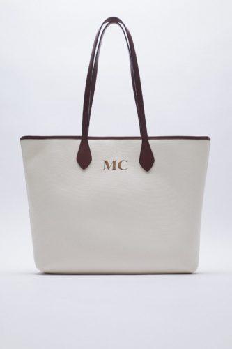 Zara Monogram Tote Bag