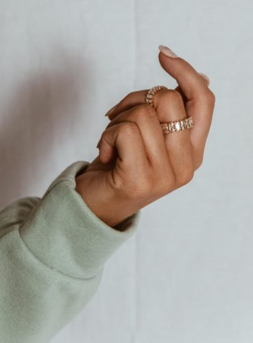 Rhinestone rings from Princess Polly