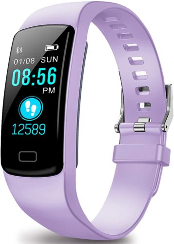 Fitbit fitness tracker in lavender