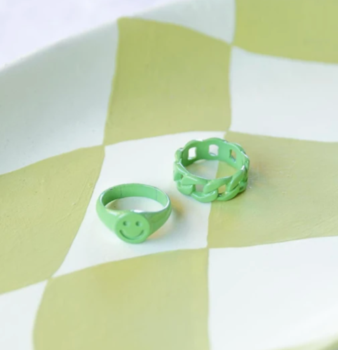 Colorful rings from Princess Polly