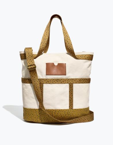 Canvas Leopard Print Tote Bag