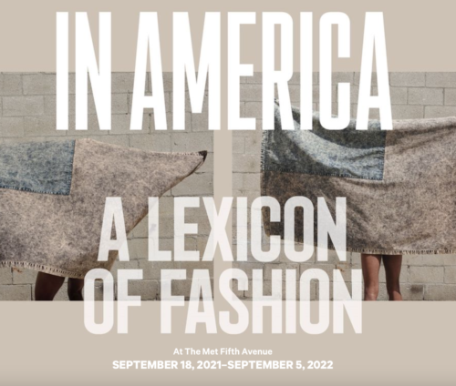 In America, a Lexicon of Fashion poster for exhibit at the Metropolitan Museum of Art