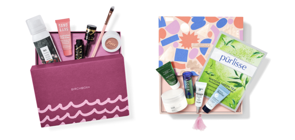 Birchbox makeup subscription box