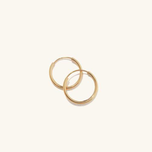 Dainty small gold hoop earrings