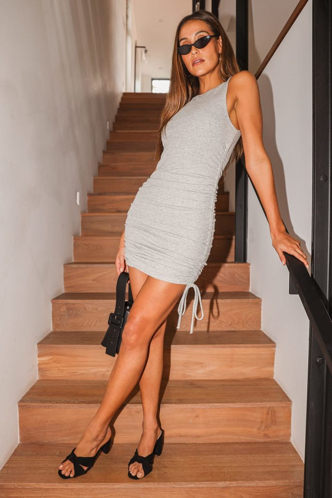 Casual gray dress for college