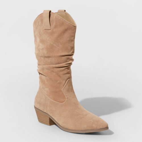 Brown Western Slouchy Boots - cheap fall boots