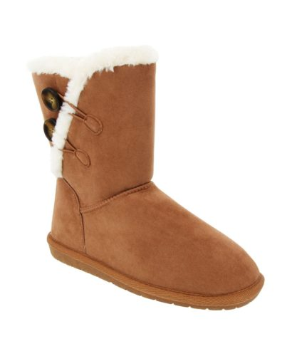 Cozy Brown Winter Boots with Shearling Lining - cheap fall boots