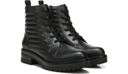 Water Resistant Lace-Up Combat Boots - cheap fall boots