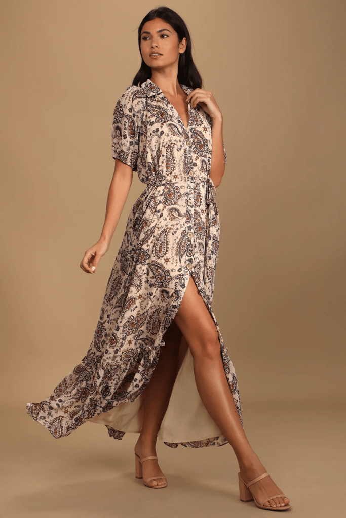 Paisley maxi dress from Lulus