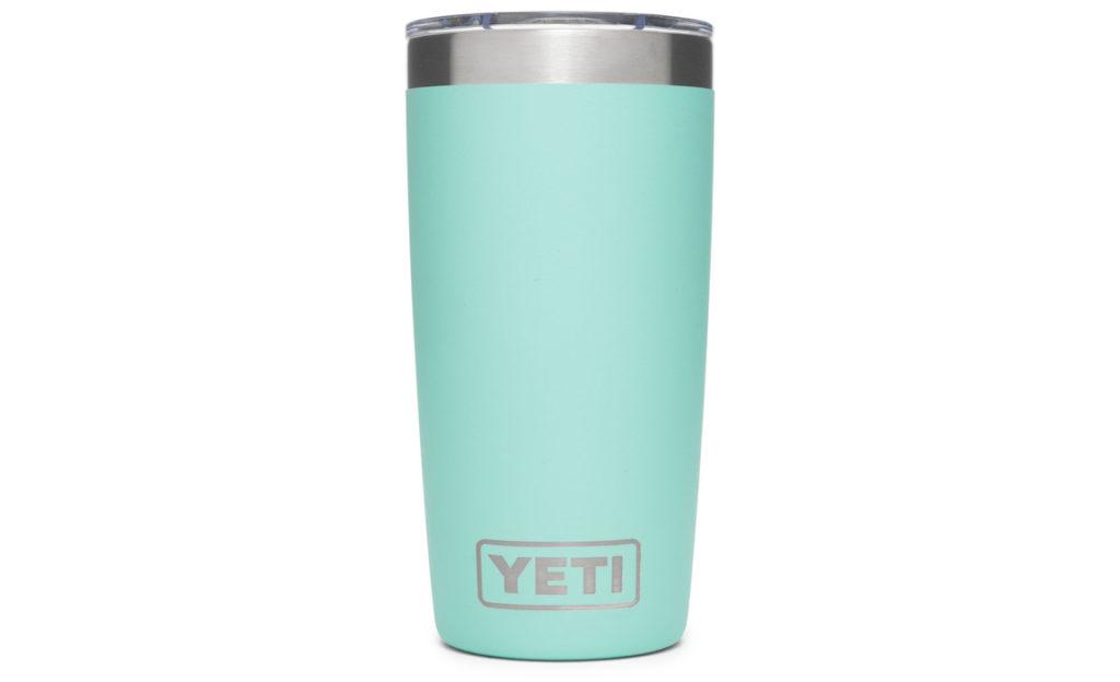 Yeti tumbler in light blue