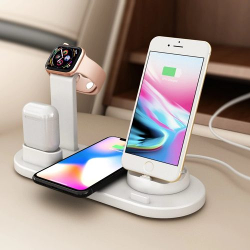 Charging dock for iphone, airpods, and apple watch