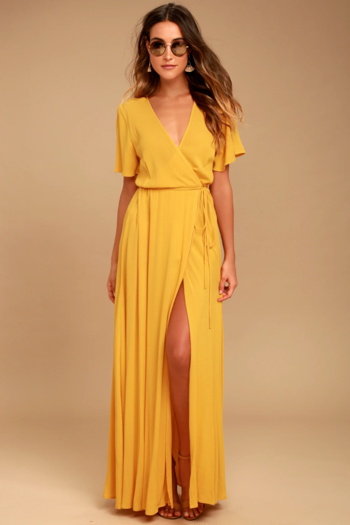 Yellow maxi dress from Lulus