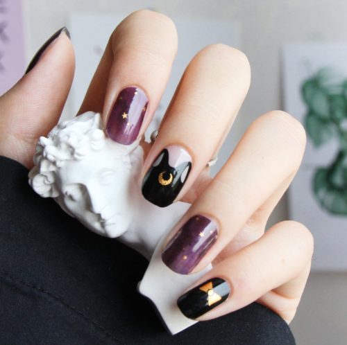 Galaxy nail wraps from Etsy