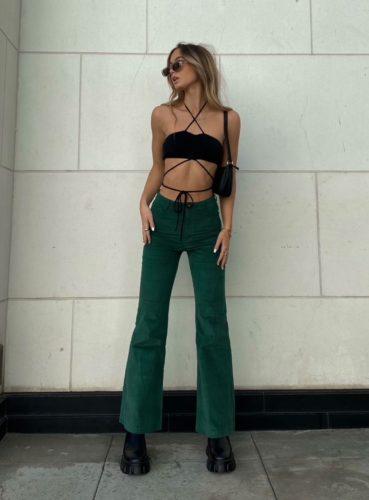 Princess Polly Emerald Green Pants