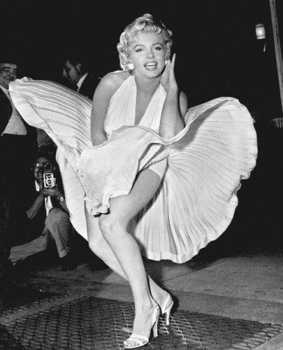 Marilyn Monroe in a white dress
