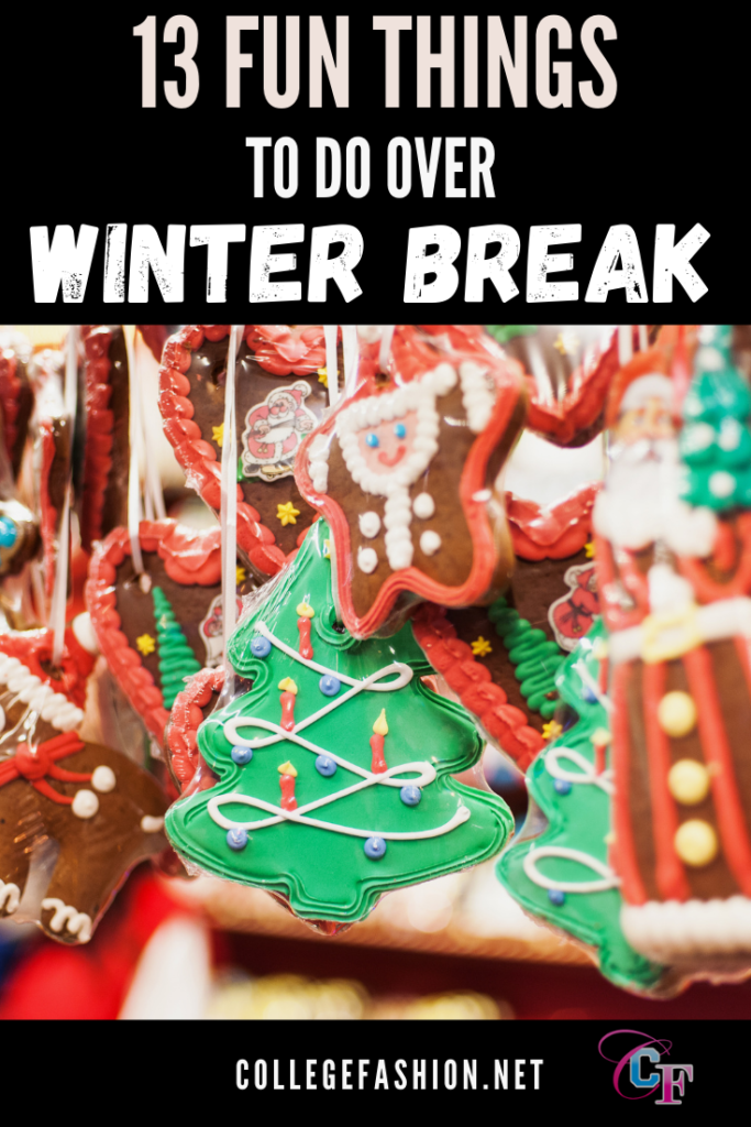 13 fun things to do over winter break - photo of christmas ornaments hanging on a tree