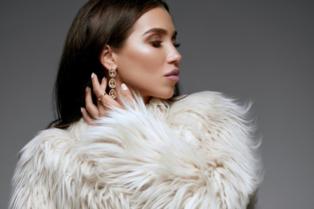 Winter fashion - photo of a woman wearing a faux fur coat